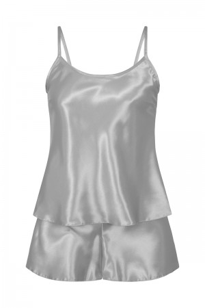 110 Silver  Girls  Satin Cami Set pj's  Nightwear