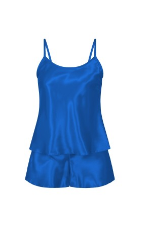 110 Blue  Girls  Satin Cami Set pj's  Nightwear