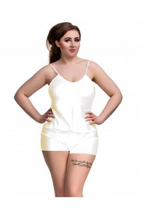 082 Plus Size Satin Cami Set S-6XL 8-24 Ivory