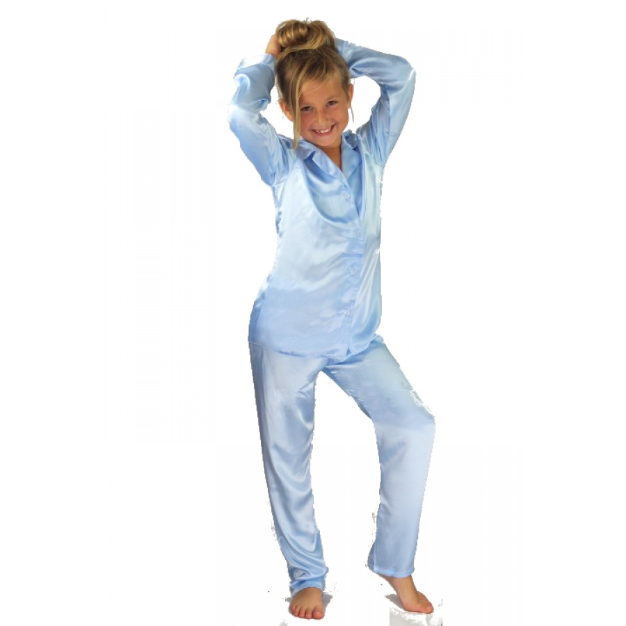 069e07671 Nine X Boys Girls Kids Satin Long Sleeve Pyjamas pj s Age ...