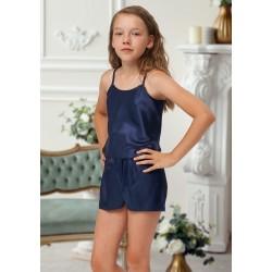 110 Navy  Girls  Satin Cami Set pj's  Nightwear