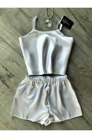 110 White  Girls  Satin Cami Set pj's  Nightwear