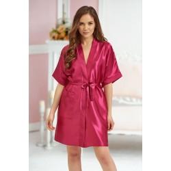 2106 Soft Satin Dressing Gown Burgundy S - 7XL