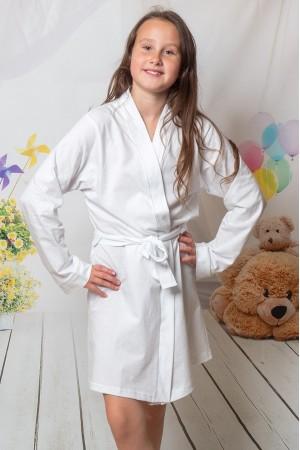 2108 White Children Cotton Robe