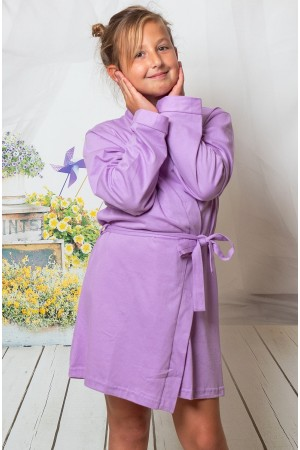 2108 Lilac Children Cotton Robe