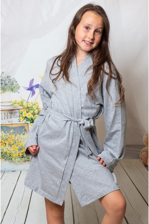 2108 Grey Children Cotton Robe ***Discontinued***