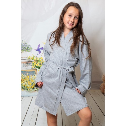 plus size-2108 Grey Children Cotton Robe New Arrivals-Nine X