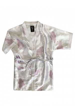 3107/3 clouds girls satin dressing gown size 2-11yrs