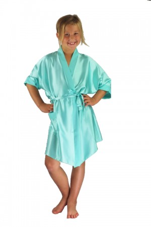 3107 Mint Children Satin Robe