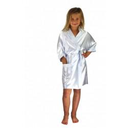 3107 White Children Satin Robe