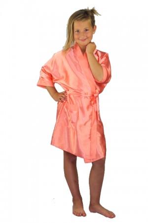 3107 Coral Children Satin Robe