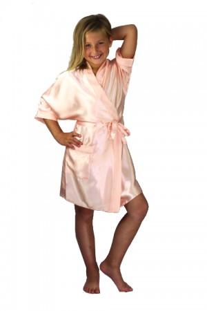 3107 Nude Children Satin Robe