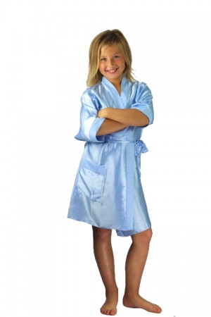 CLEARANCE OLD SHADE OF SALE 2106 Light Blue1 KIDS DRESSING GOWN 3107 (matching with 2106 Light Blue1)
