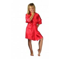 3107 Red Children Satin Robe