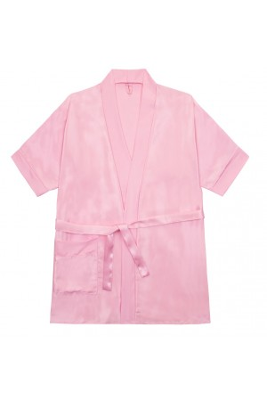 3107 Baby Pink Children Satin Robe