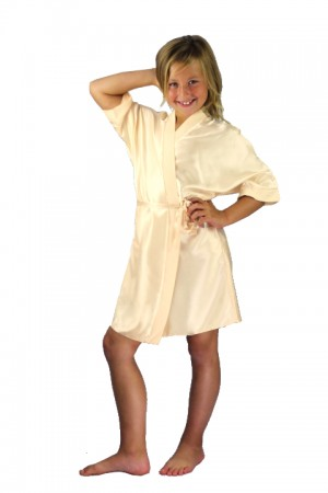 3107 Old Shade Champagne(1) Children Satin Robe