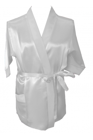 3107 Ivory Children Satin Robe