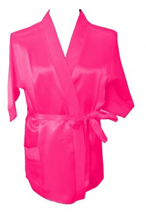 3107 Pink Children Satin Robe