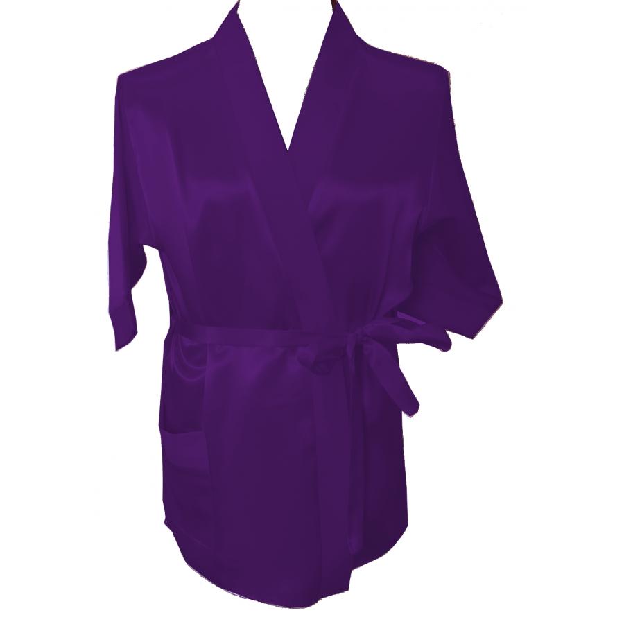 3107 Purple Children Satin Robe