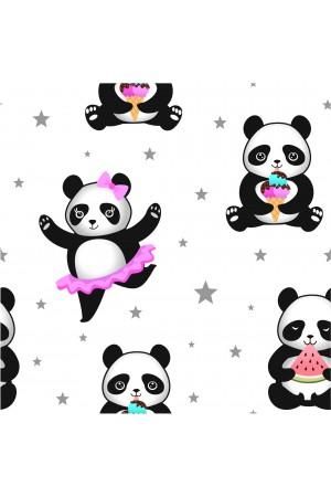 3107/4 panda girls satin dressing gown size 2-11yrs