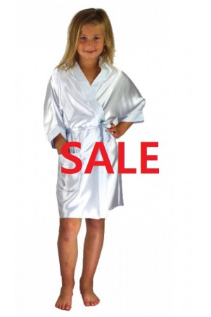 CLEARANCE OLD SHADE OF WHITE(1) KIDS DRESSING GOWN 3107 (matching with 2106 white1)