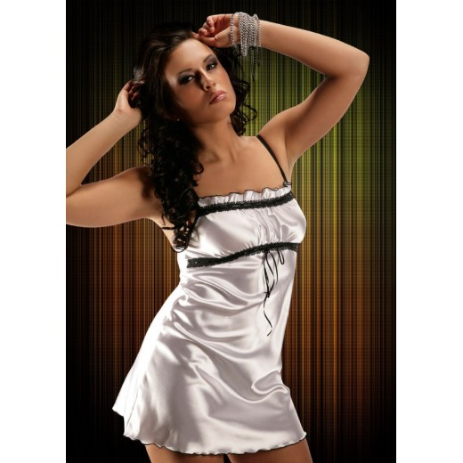 plus size-2011 Sexy White Satin Chemise With Lace Bust S-6XL Clearance-Nine X