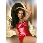 plus size-008 Satin Cami Set Red S - 6XL Cami Sets-Nine X
